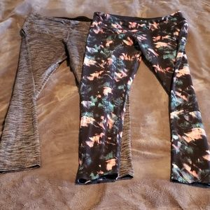 Two pairs of active leggings